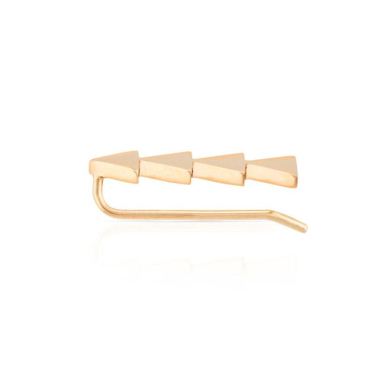 Smith + Mara 14k Triangle Ear Climber