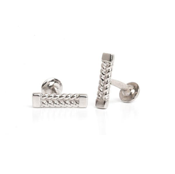 Lillian Ismail Men's Silver Cufflinks
