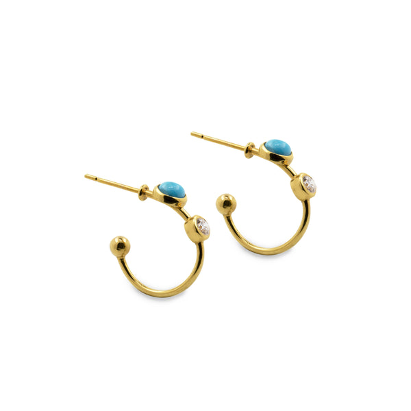 Lillian Ismail Falak Hoop Earrings