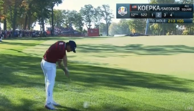 Brooks Koepka hit ridiculous shank at The Ryder Cup!