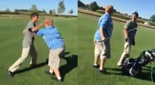 Poor fat kid gets bullied on golf course