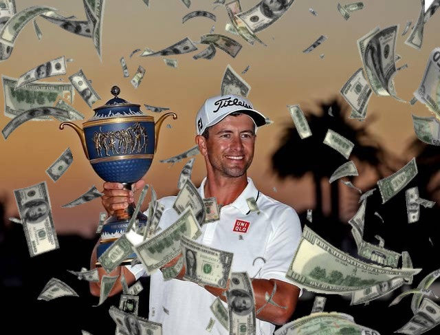 Adam Scott's earns $4037 per shot in last 3 weeks