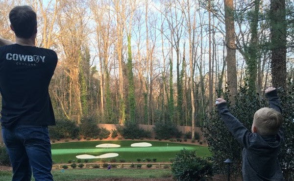 NASCAR star Kevin Harvick has a replica of Augusta's par-3 12th in backyard