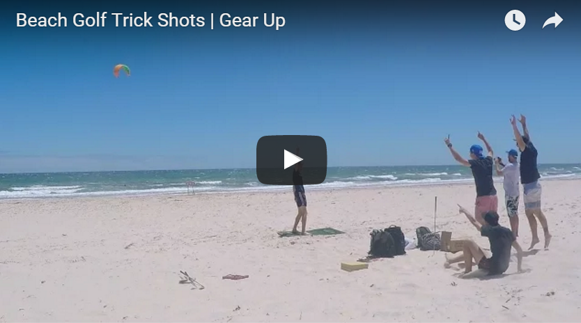Golf Gods and Gear up Beach Golf trickshots!