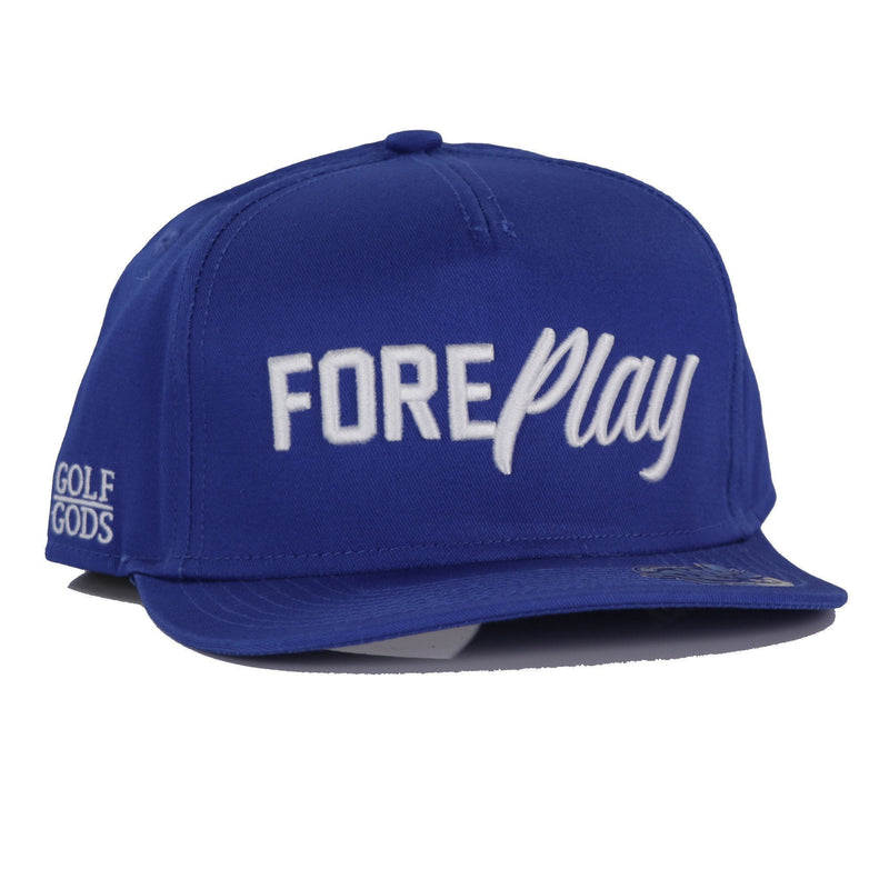 Golf Gods - FOREPlay Royal Blue SnapBack Golf Hat