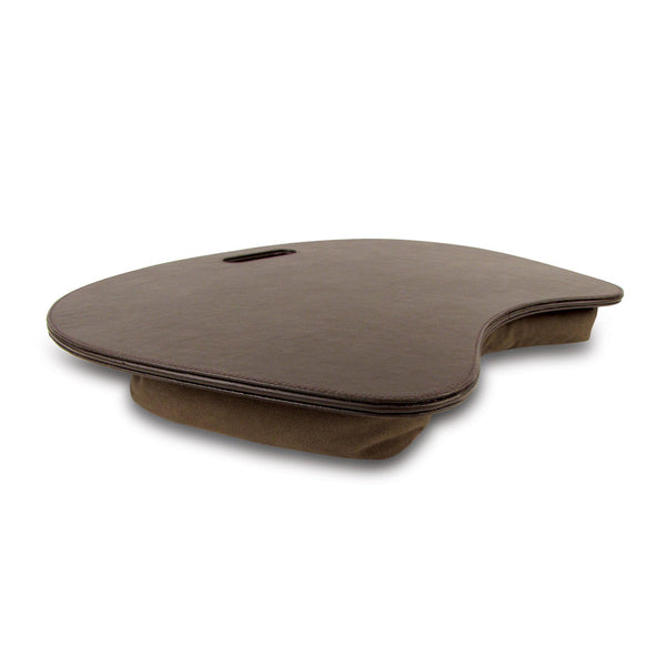 Laptop Leather Lap Mat - Brown and Black