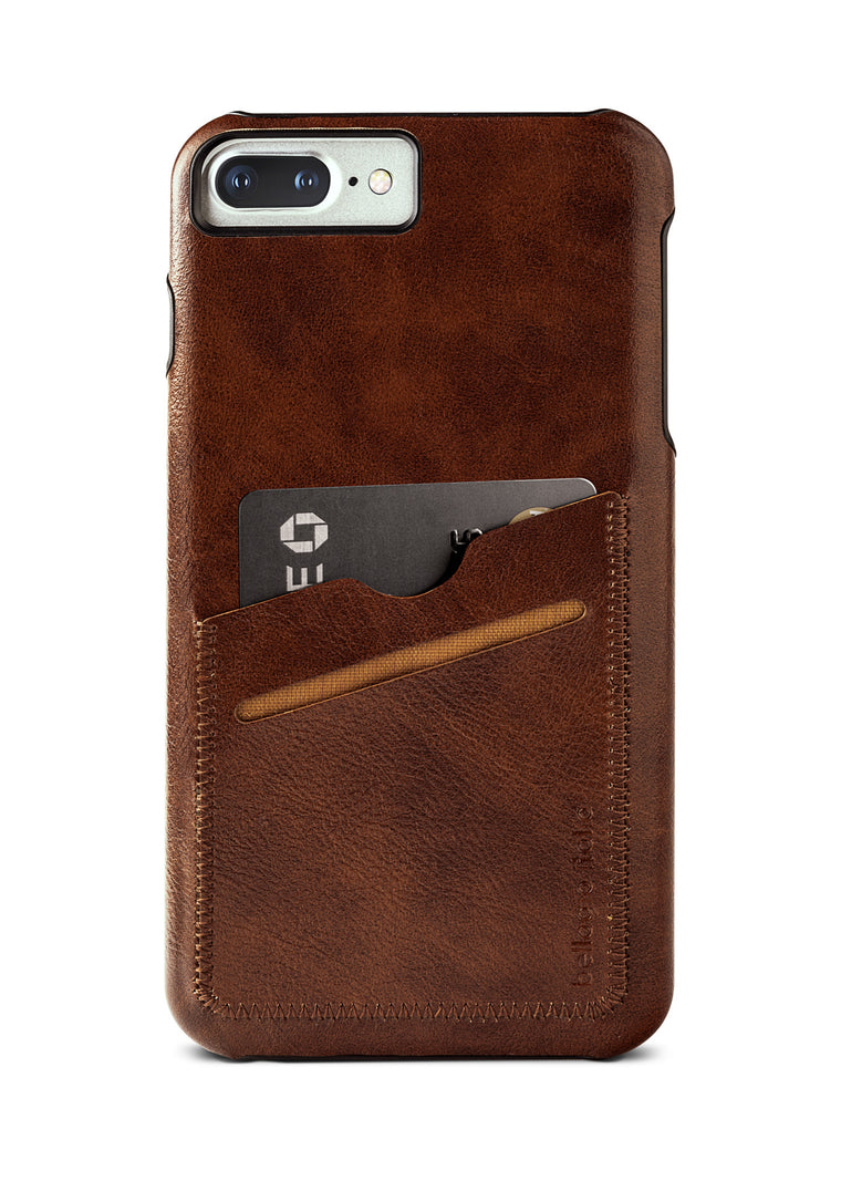 Leather iPhone Plus Case - Fits iPhone 6 Plus, 6s Plus, and 7 Plus