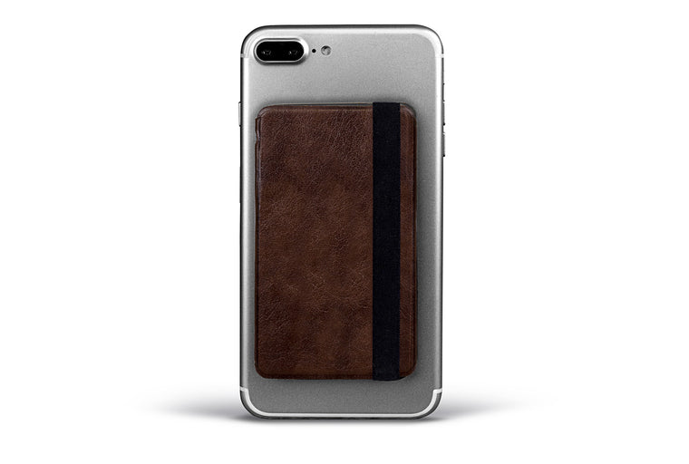 Leather Folding Phone Wallet for Credit Cards and Cash