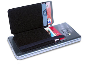 Folding Phone Wallet for Credit Cards and Cash- Carbon Fiber