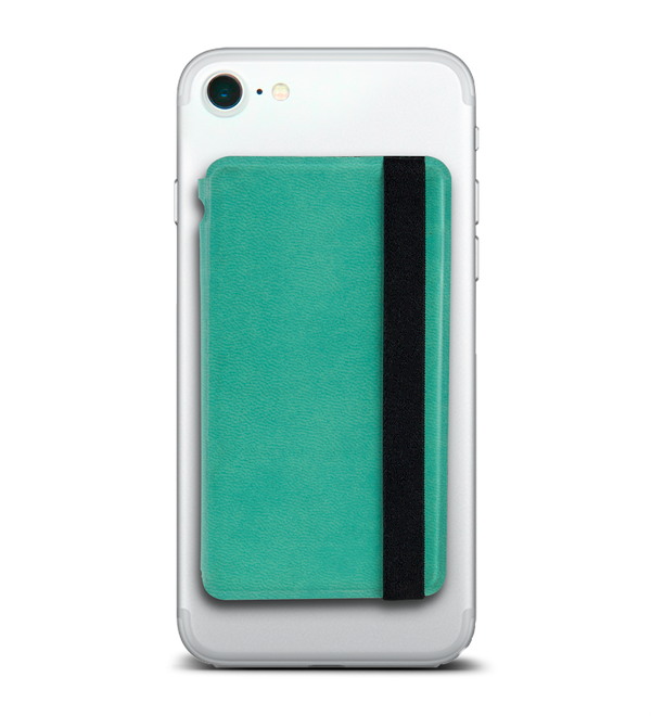 Folding Phone Wallet for Credit Cards and Cash- Teal