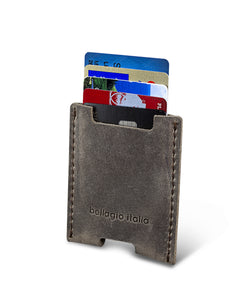 Full Grain Leather Single Pocket Card Sleeve