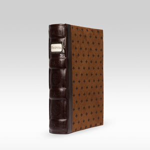 Bellagio-Italia Tuscany CD/DVD Storage Binder Chestnut - Single