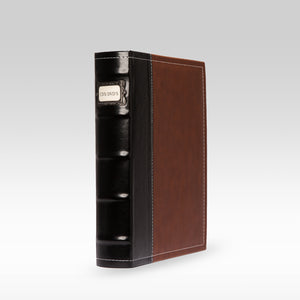 Bellagio-Italia Leather CD/DVD Storage Binder Brown - Single