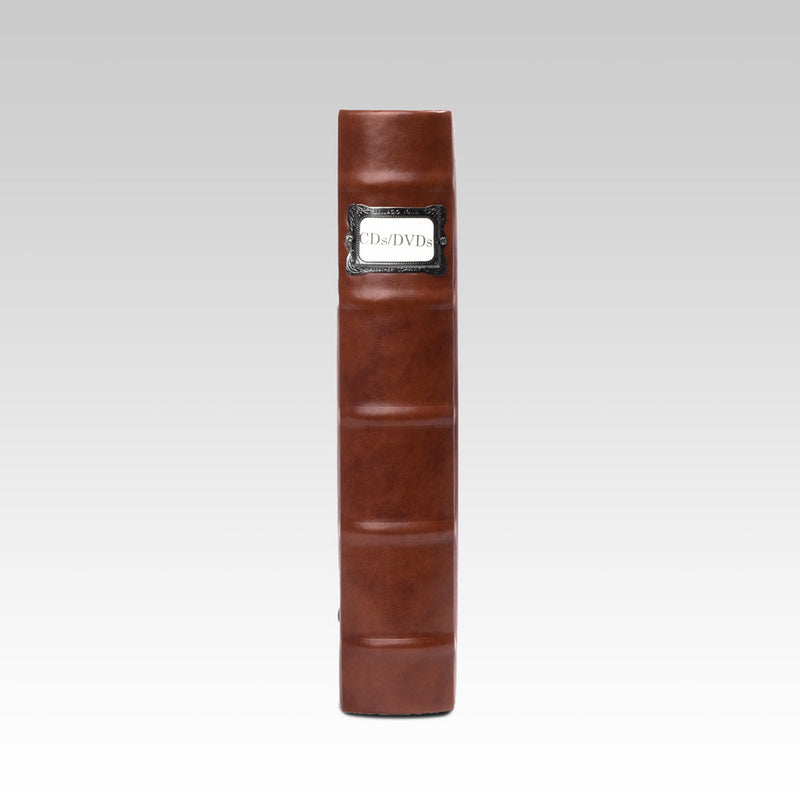 Bellagio-Italia Corona Leather CD/DVD Storage Binder Caffe- 3-Pack