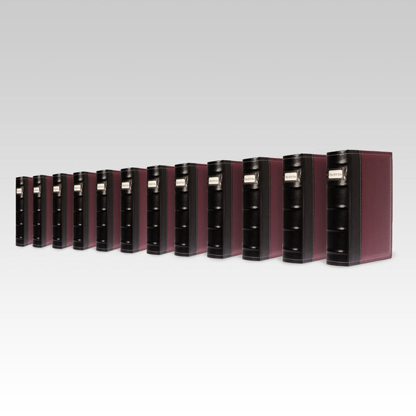 Bellagio-Italia Leather CD/DVD Storage Binder Burgundy 12-Pack