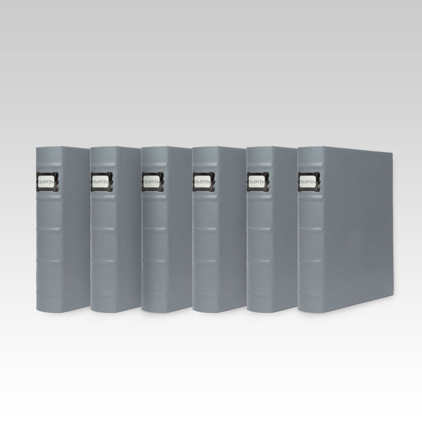Bellagio-Italia Full Gray DVD Binder-6-Pack