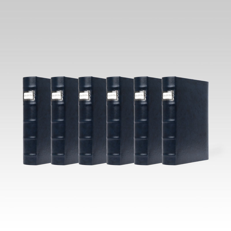 Bellagio-Italia Corona Leather CD/DVD Storage Binder Lago- 6-Pack