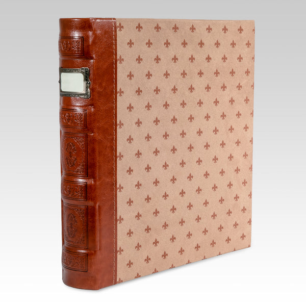 Tuscany 3-Ring Office Binder, Cognac