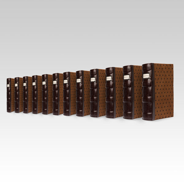 Bellagio-Italia Tuscany CD/DVD Storage Binder Chestnut 12-Pack