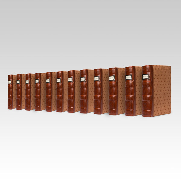 Bellagio-Italia Tuscany CD/DVD Storage Binder- Cognac 12-Pack
