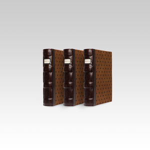 Bellagio-Italia Tuscany CD/DVD Storage Binder Chestnut 3-Pack