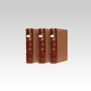 Bellagio-Italia Tuscany CD/DVD Storage Binder- Cognac 3-Pack