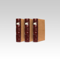 Bellagio-Italia Tuscany CD/DVD Storage Binder Crimson 3-Pack
