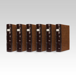 Bellagio-Italia Tuscany CD/DVD Storage Binder Chestnut 6-Pack