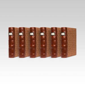 Bellagio-Italia Tuscany CD/DVD Storage Binder- Cognac 6-Pack