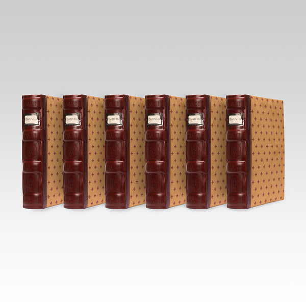 Bellagio-Italia Tuscany CD/DVD Storage Binder Crimson 6-Pack