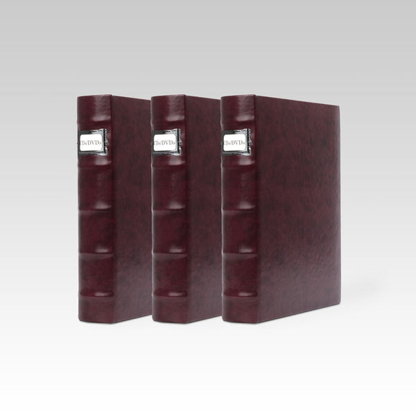 Bellagio-Italia Corona Leather CD/DVD Storage Binder Vino- 3-Pack