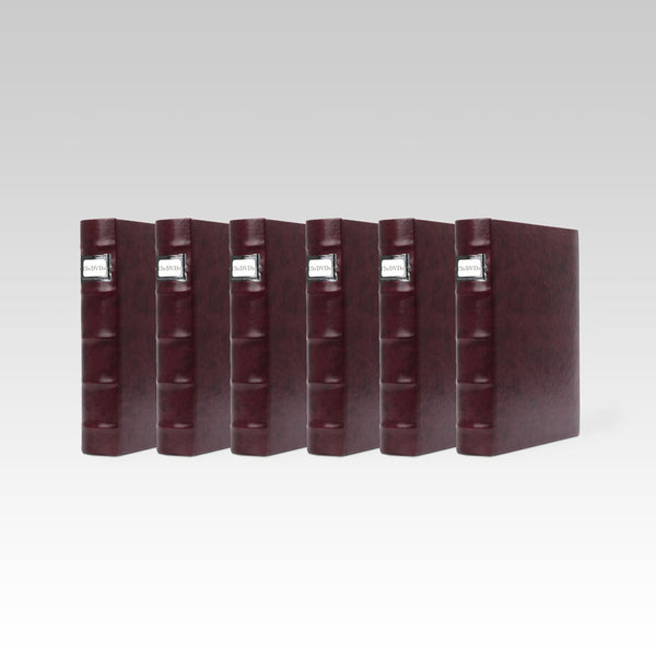Bellagio-Italia Corona Leather CD/DVD Storage Binder Vino- 6-Pack