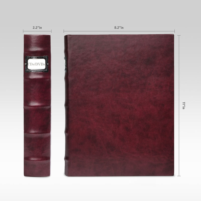 Bellagio-Italia Corona Leather CD/DVD Storage Binder Vino- Single