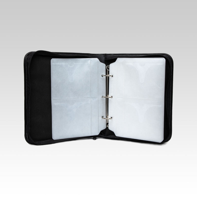 Black DVD Binder with Zipper Enclosure