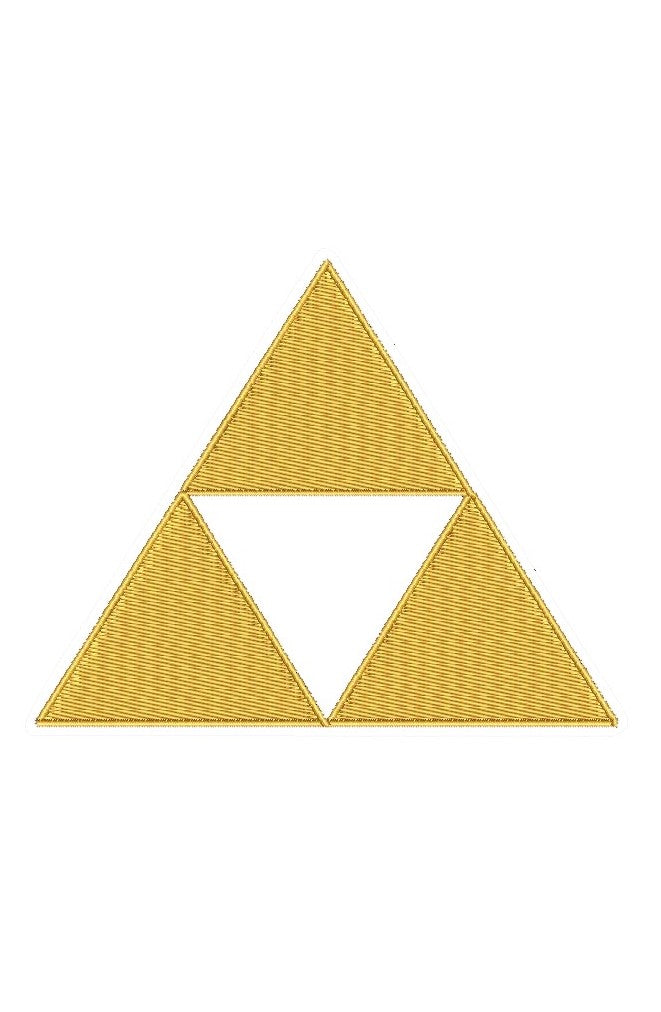 "Patch Craft - Zelda Triforce - (5"" x 4"" Applique Patch Iron On)"