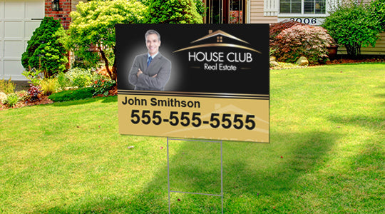Full color double sided coroplast Yard Sign
