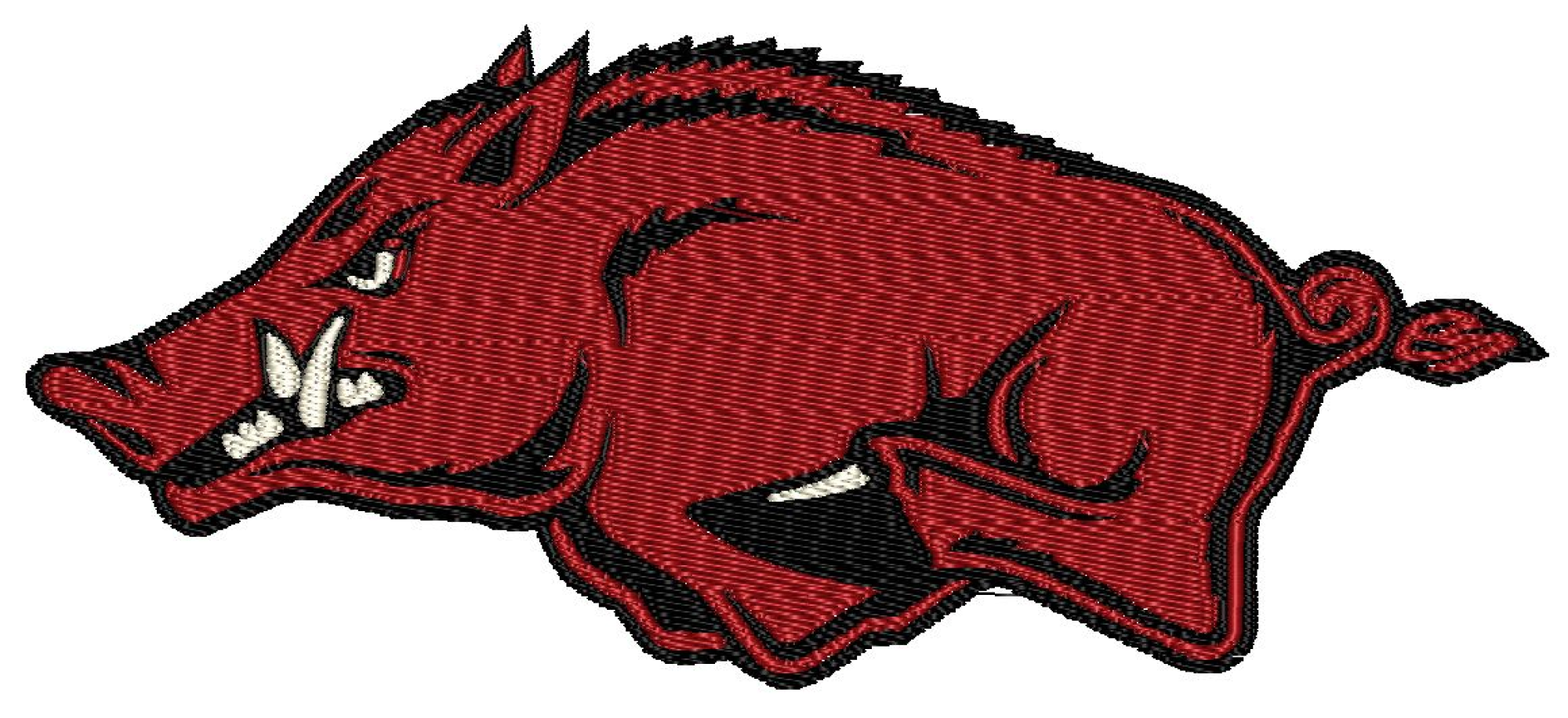 Patch Craft - Arkansas Razorbacks Patch - (4 Sizes, Iron On)