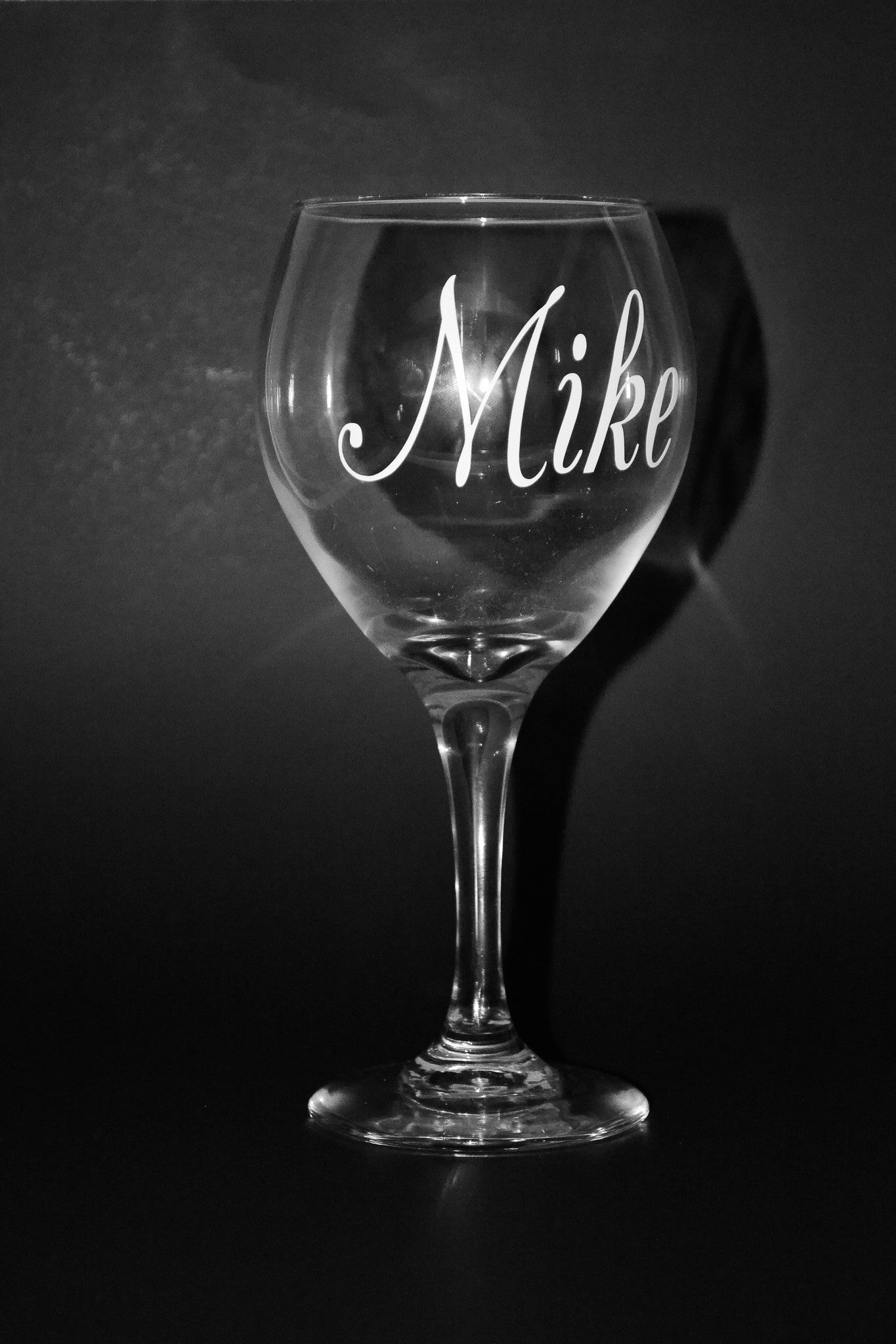 Personalized Long Stem Wine Glass