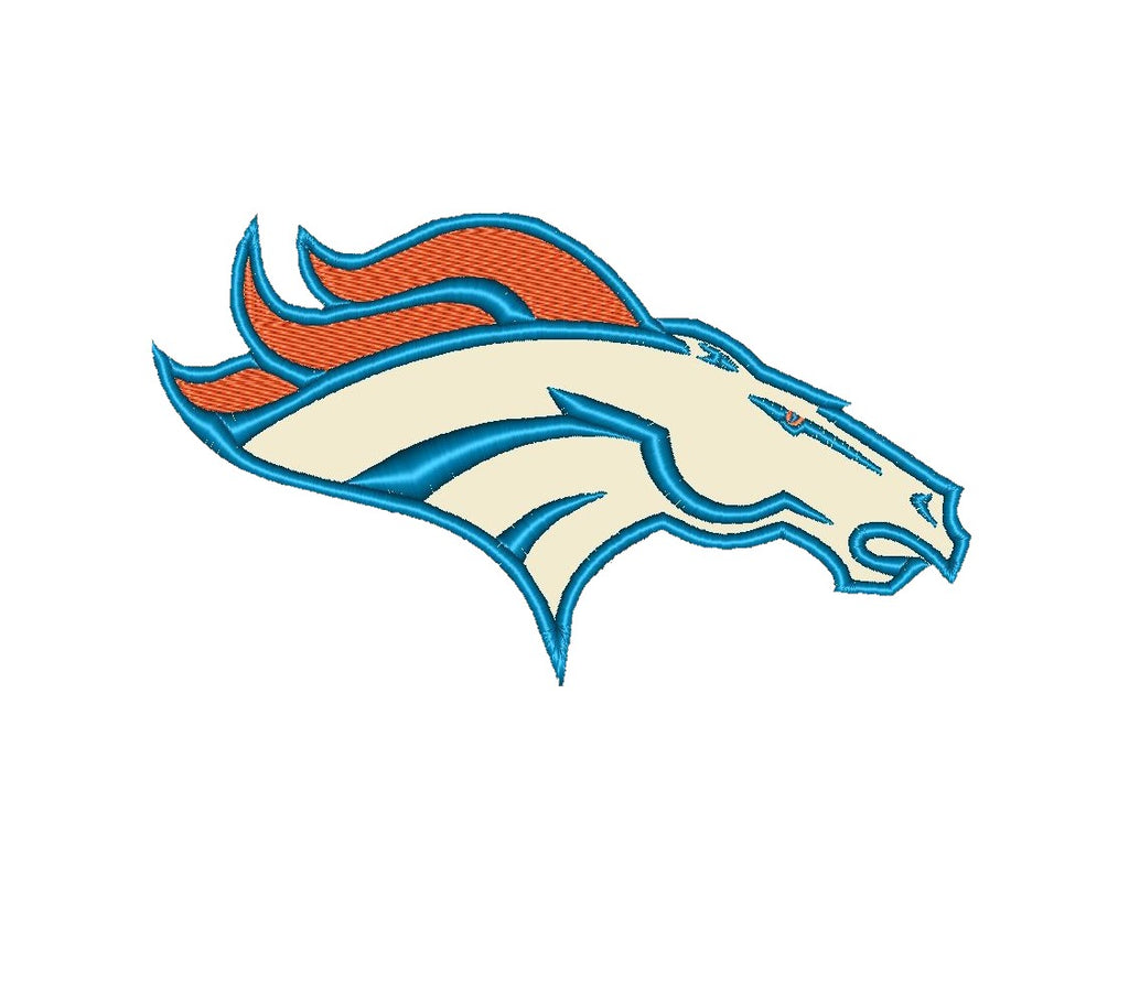 "Patch Craft - Denver Broncos - (7""x 4"" Applique stitches Iron On patch)"