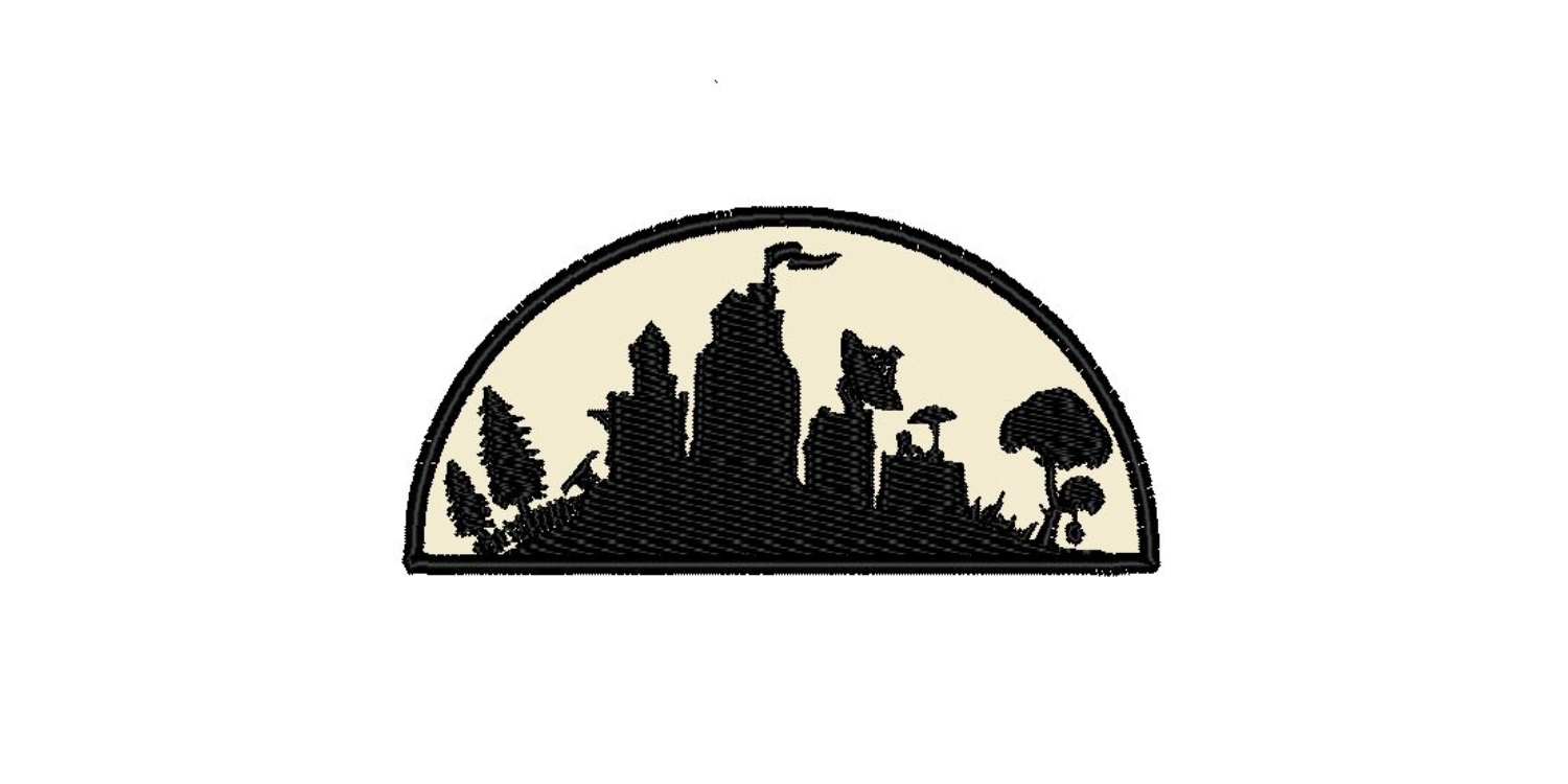 "Fortnite Scene Iron On Patch (3.9""x1.8"")"