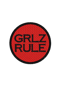 "Patch Craft - Grlz Rule - (2.75"" Round Patch Iron On)"