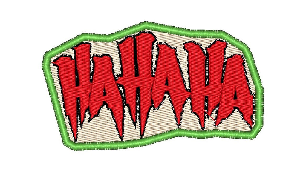 "Patch Craft - Joker HAHAHA  - (1.7"" x 0.98"" Iron On Patch)"