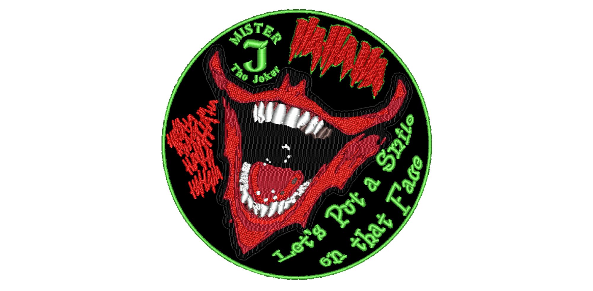 "Patch Craft - Joker Backpatch  - (10"" Round Iron-on)"