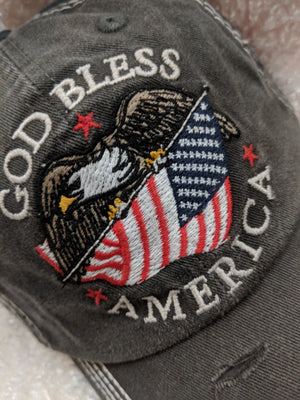 Urban Design Cap - God Bless America, Eagle Carrying Flag