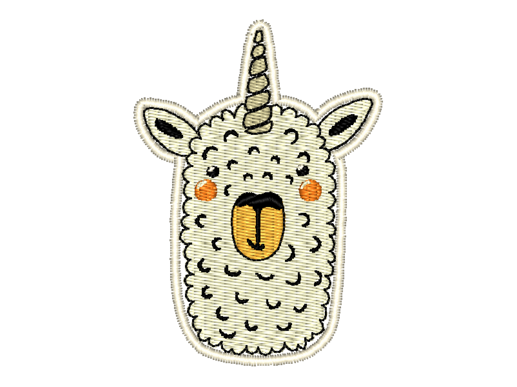 Patch Craft - Llamacorn - (Complete Stitches Iron On)