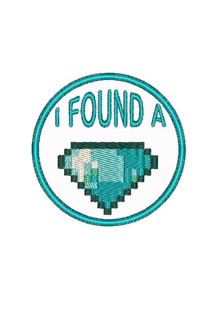 "Patch Craft - I Found A Diamond - (2.75"" Round Patch Iron On)"