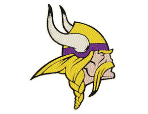 "Patch Craft - Minnesota Vikings - (4"" x 5"" Complete Stitches, Iron On patch)"