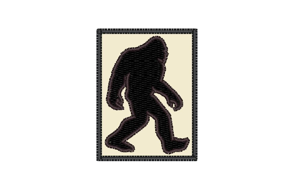 "Patch Craft - Bigfoot Classic Silhouette - (1.5"" x 2"" Patch Iron On)"