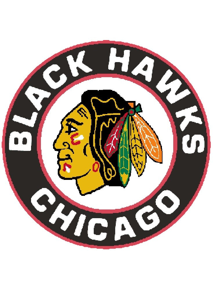 "Patch Craft - Chicago Blackhawks - (3.5"" Complete Stitches Iron On patch)"