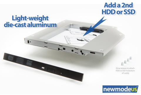 Universal for 9.5mm optical DVD drive bays (SATA to SATA) - Newmode Electronics